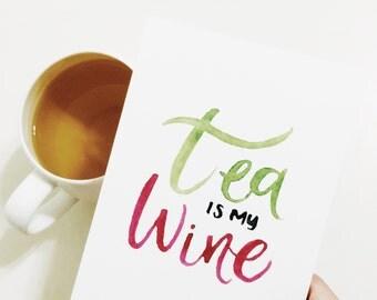 Tea Obsession Postcard