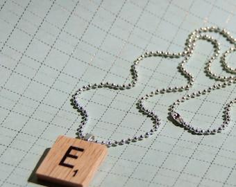 Scrabble Tile Letter Pendant Necklaces