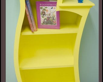 The Crooked Wood Bookshelf inspired by Dr. Seuss