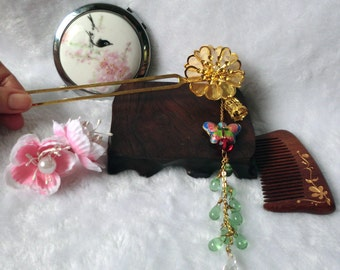 Chinese Deep in the Courtyard Gardens Hair stick Inspired by Ouyang Xiu
