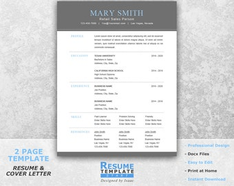 functional resume template word professional resume template for word word template for resume - One Page Resume Template Word