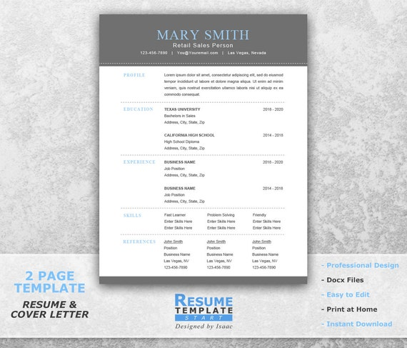 Functional Resume Template Word Professional Resume Template