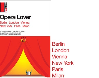 "Red Maps ""Opera Lover"" City Guide Set  (Berlin, Milan, Paris, Vienna, London, New York)"
