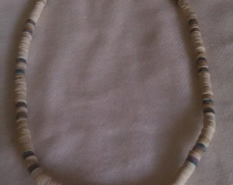White and Gray Beaded Necklace