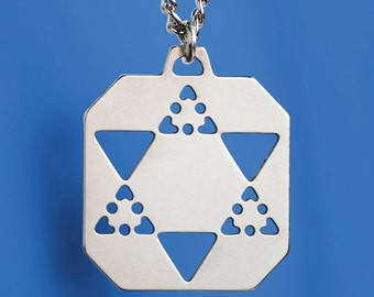 Star of David Plate - Sterling Silver. Makes a meaningful gift for a man or a Bar Mitzva boy.