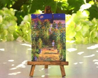 Monet Table Canvas on Easel
