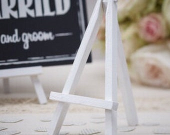 Mini easels white, 3 packs of 3.