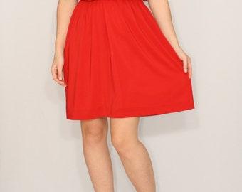 Short red dress Chiffon dress Bridesmaid dress Keyhole dress