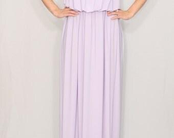 Lavender Bridesmaid dress Pale purple dress Maxi dress