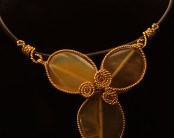 Carnelian/Agate Pendant Necklace