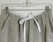 100% Linen Pants Drawstring w/ Elastic for Men w/ Pockets - Jadon Pants - Mix Natural - Beach Wedding Party Pants