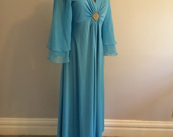 Vintage 1970s Robins Egg Blue Formal - M/L