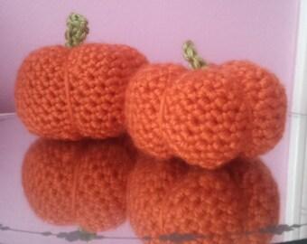 Crochet mini pumpkins