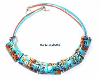 Necklace summer polymer