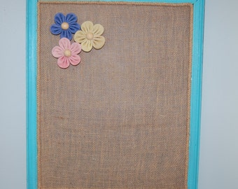 Burlap Magnetic Board with Magnets