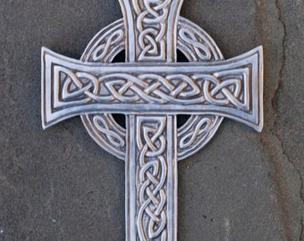 Celtic Cross Pewter Wall Plaque