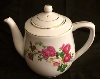 Rose china teapot