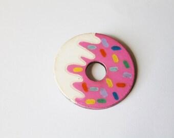 Donut Worry, Be Happy - Donut Brooch