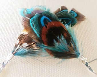 The Pleasant Pheasant Feather Earrings