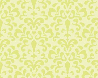 Riley Blake, Doohikey Designs, Damask in Citron, Ashbury Collection,1 yard C3343