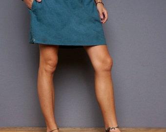 Women Khadi skirt, mini skirt, handwoven Cotton, cotton skirt, summer skirt