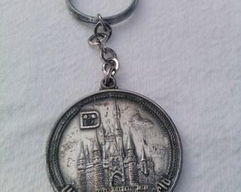 Vintage Walt Disney World Key Chain:Liberty Square, Fantasyland ,Tomorrowland ,MainStreet,etc.
