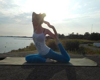 Elsatic velvet yoga tights