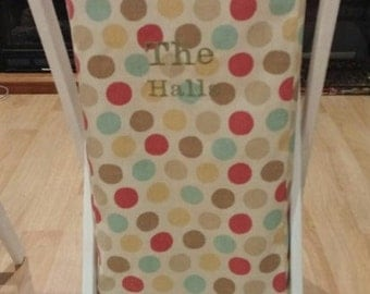 Reversible Canvas Laundry Hamper with Foldable Stand.