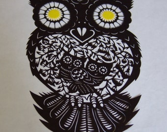 Owl - Chinese papercut of an owl