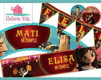Printable Kit with editable text - The book of Life - Give your name to your Birthday!