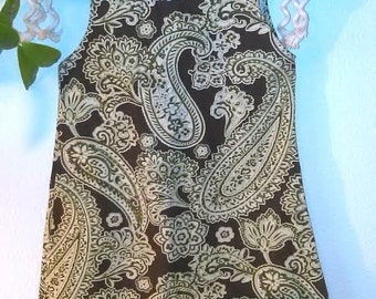 18-24 Month Green And Brown Paisley Dress