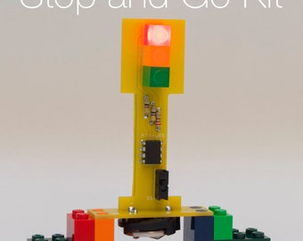 LEGO Compatible DIY Soldering Kit ----Stop and Go Kit
