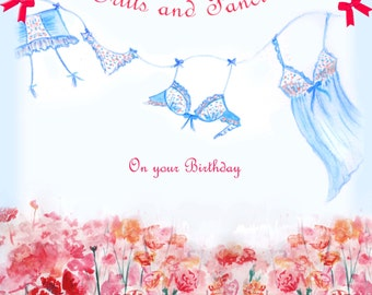 birthday card for her frills and fancies