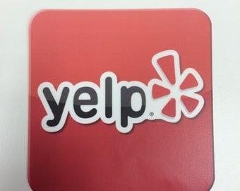 logo Stickers Yelp Decal or custom logo