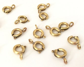 6 mm raw brass 100 pcs Round Lobster Claps Findings