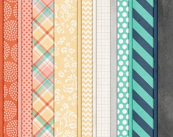 Endless Summer - Digital Papers - 12 x 12 - Scrapbooking Pack - Perfect for Beach Pages!