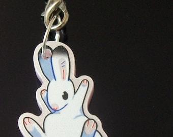 "1"" White Bunny charm"