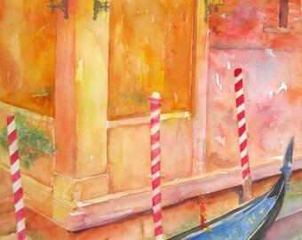 B Venetian Gondola Moored
