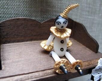 OOAK Miniature/dollhouse miniature/Pierrot Doll House miniature.