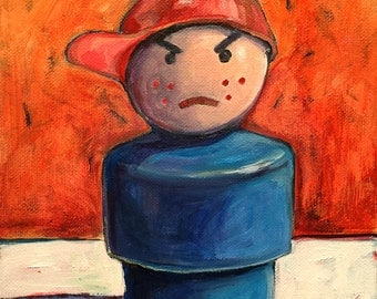 Fisher Price Little People Boy: Original Painting