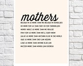 Mothers Day From Daughter Mom Poem Typographic Print Mother In Law Wedding Present Mom Birthday Gift Motherhood Wall Art Mother Of The Bride