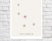 Constellations Prints Set Cassiopeia Andromeda Orion Poster Stars Nursery Wall Art Astronomy Picture Baby Girl Room Ideas Boy Bedroom Decor