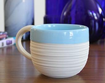 Porcelain Mug - Groove Mug in Sky Blue
