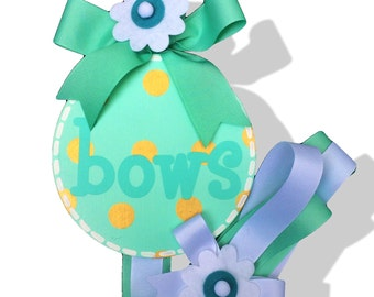 NEW Girls Hair Bow Holder in Mint and Gold