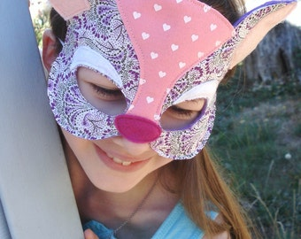Deer Mask - Fawn Mask - Deer Costume - Woodland Animal - Shabby Couture - Halloween