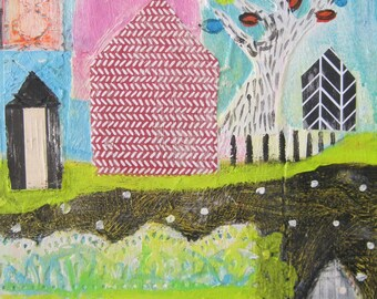 Original painting by Michelle Daisley Moffitt....Hedge Row