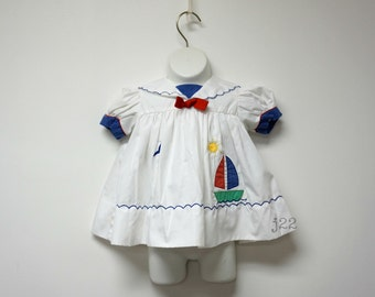 ON a GOOD DAY . puff sleeves sailor dress . 24 months