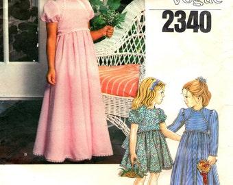 VOGUE 2340 Child Size 6 LITTLE VOGUE Dress