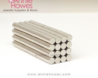 500 Pack Extremely Strong 1/4 In Neodymium Magnets - 1/4 x 1/16 Inch Super Strong Neodymium Magnets.