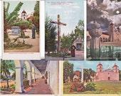 9 Vintage Postcards of Santa Barbara Mission Blank on Back